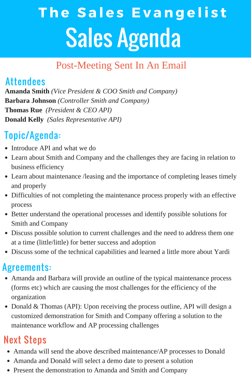 tse 140  how i use an agenda when meeting with clients