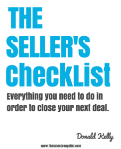 The Seller's Checklist