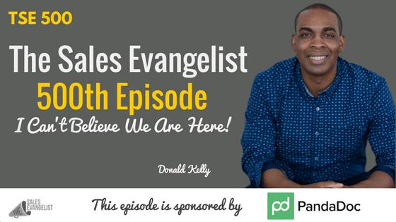 The Sales Evangelist Podcast, Donald Kelly, PandaDoc