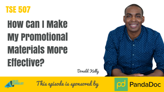 Promotional Material, Donald Kelly, The Sales Evangelist Podcast