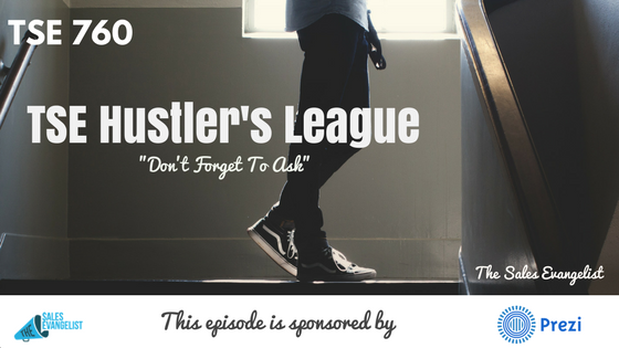Donald Kelly, TSE Hustler's League, Asking Questions, Sales