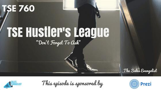 Donald Kelly, TSE Hustler's League, Asking Questions, Sales