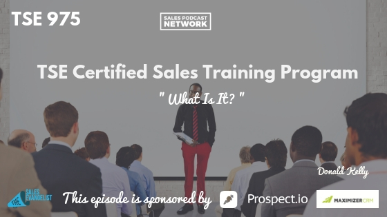 Sales Training, Sales Growth, Donald Kelly,