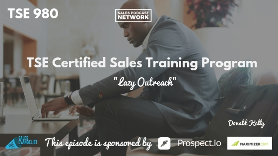 Donald Kelly, Sales Training Program, Donald Kelly