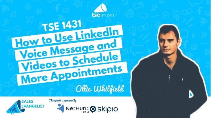 Ollie Whitfield, LinkedIn voice message